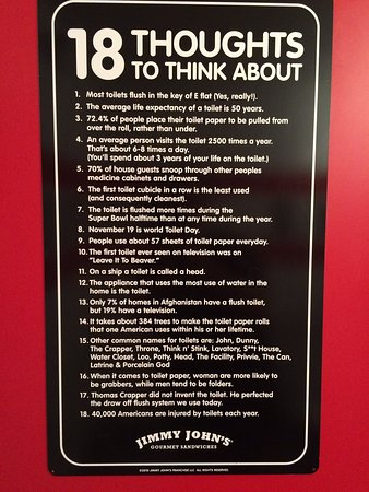 Jimmy John's: Had a laugh at all the signs in the washroom