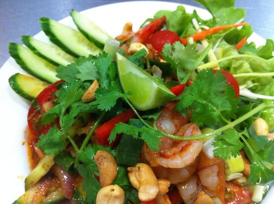 Coolum Beach, Austrália: Thai Prawn Salad