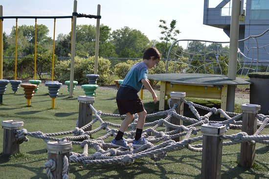 Liberty Science Center: Obstacle Course outside