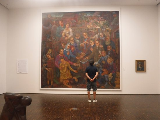 Figge Art Museum : There are plenty of paintings to view throughout the galleries. This was one of the biggest