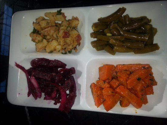 Wilsonville, OR: Beet, Carrot, Green Bean, Potato appetizer