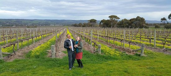 McLaren Vale, Australia: Cassie & I having a great time on our Wine Divas tour