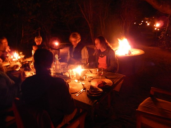 Maputaland Coastal Forest Reserve, Republika Południowej Afryki: Dinner on our last night