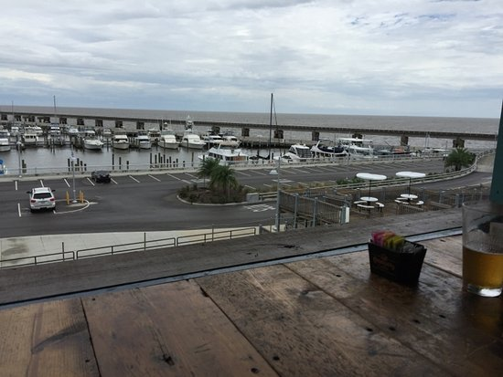 The Blind Tiger: View of Bay of St. Louis from the top floor.