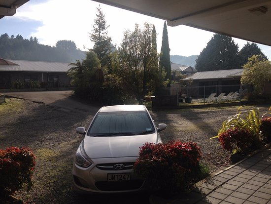 Taumarunui, Nowa Zelandia: View from unit entrance