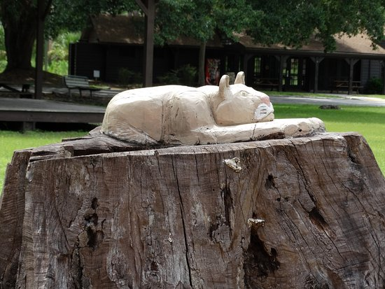 Sebring, فلوريدا: Stump carving