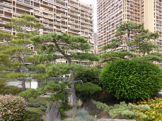sch ner garten in beton umgebung picture of japanese gardens monte carlo tripadvisor. Black Bedroom Furniture Sets. Home Design Ideas