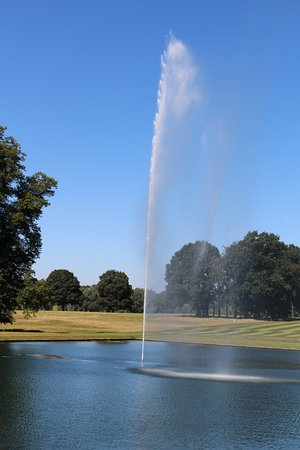 Spectacular water feature at Boughton House