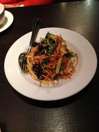 Billy Kwong: Carrot, black fungus and Potato salad