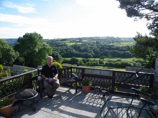 Plas Newydd Farm B&B : view from the patio