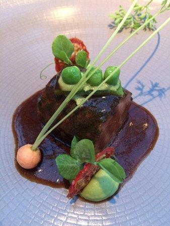 Alexander Restaurant at Padaste Manor: Sanglier et petit-pois