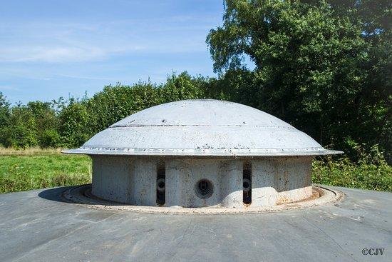 Eben-Emael, Belgium: Eén van de kanonskoepels van het fort
