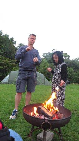 Frongoch, UK: Nightly marshmallow toasting