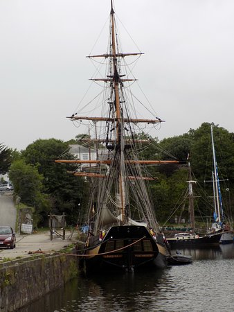 St Austell, UK: One of the tall ships that makes the harbour its home