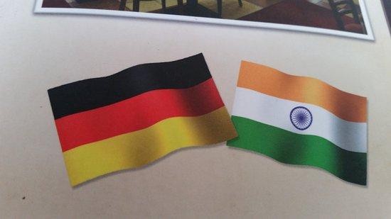 Melsungen, Deutschland: indische Gerichte werden angeboten