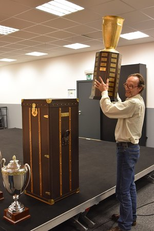 Francorchamps, Belgique : 24H of Spa Winners Trophy and custom-made leather flightcase made by Belmal Malletier