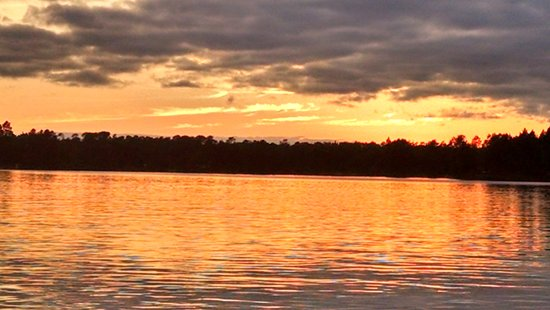 Ely, MN: Sunset from dock - Cabin 3