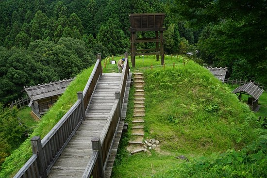 Joshi Park Asuke-jo Castle: 南見晴台を見下ろす