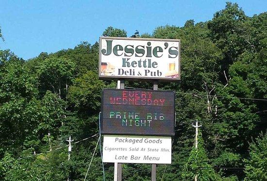 Hewitt, NJ: Jessie's Kettle & Pub Sign