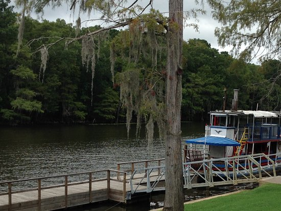 Captain Ron's Gator Park, Petting Zoo and Botanical Gardens: The old paddle boat no longer in use