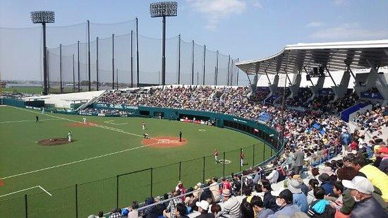 Chikugo, Japão: 3塁側より