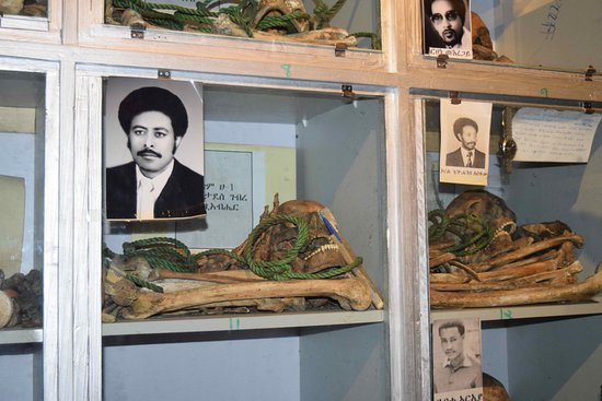 Red Terror Martyrs Memorial Museum: Remains of some of the known people