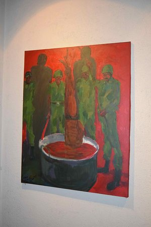 Red Terror Martyrs Memorial Museum: Victims were tortured by being dipped into hot oil