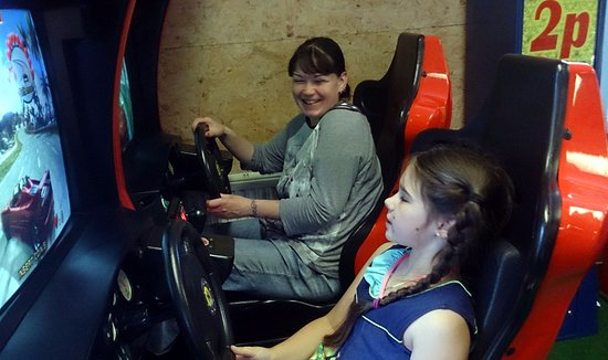 Creetown, UK: Good sega racer game.
