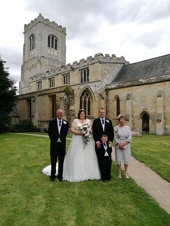 Burton Agnes, UK: Our wedding day