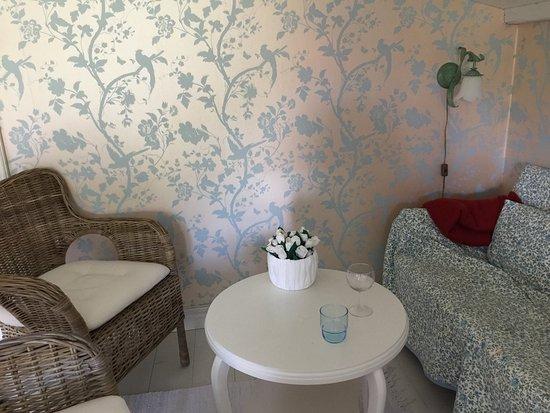 Ravlunda Branneri B&B: Cozy corner in our big room!