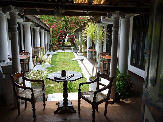 Hotel Weltevreden: the garden in the center