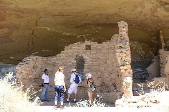 Towaoc, CO: First ruin in the Ute Mountain Tribal Park - private tour - you hike up about 300 feet.