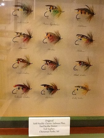 Margaree Salmon Museum : Hand tied flies in the Salmon Museum