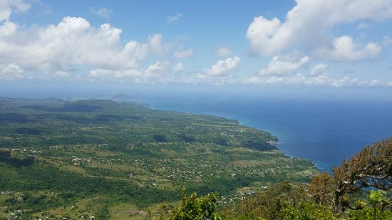 Julian Boat Tours: The view from the top of the Piton (separate from boat tour).