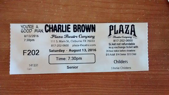 Cleburne, TX: ticket from play