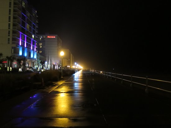 Virginia Beach Atlantic Avenue at night - YouTube  |Virginia Beach Night Life