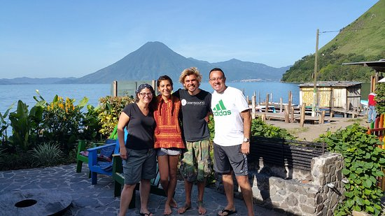 Lake Atitlan, Guatemala: With our instructor and dive master