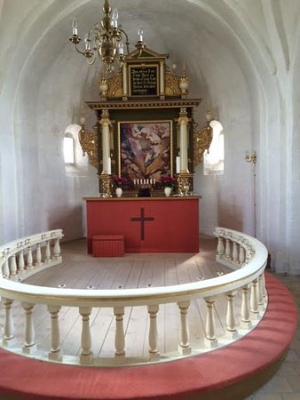Marielyst, Danmark: Beautiful and unique altar