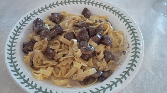 Fort Coulonge, Canadá: Beef and mushroom stroganoff .
