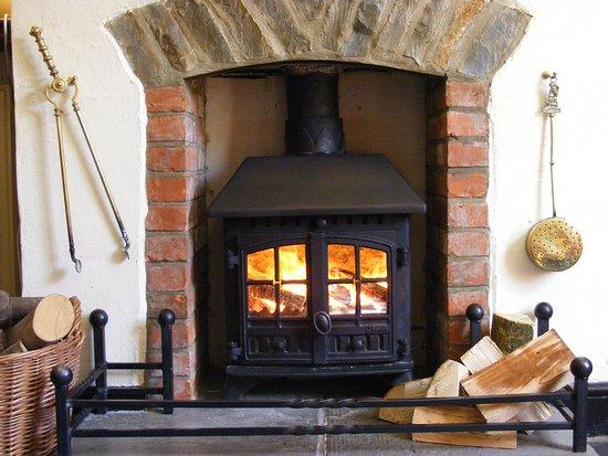 Wookey, UK: Fireplace
