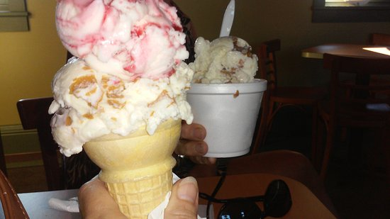 Tamaqua, PA: Raspberry cashew/peanut butter ice cream