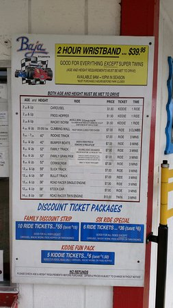 Baja Amusements: Prices- definitely worth the wrist band. Look in local guides to get good discounts.