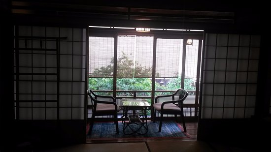 "Kikokuso: Balcony overlooking garden from room ""C"" (8 tatami)"