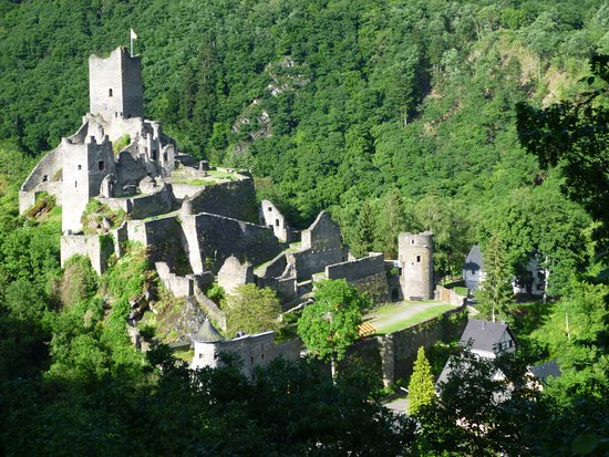 Manderscheid, Duitsland: local Castle, down in the vally.