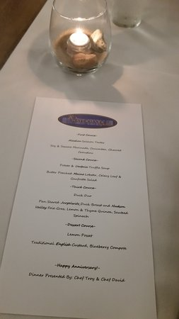 Chestertown, MD: Chef inspired menu