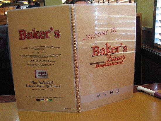 Menu - Picture of Baker's Restaurant, Dillsburg - TripAdvisor