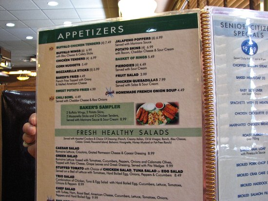 Baker's Restaurant: Prices