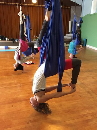 Fairborn, OH: Aerial Yoga gives you a different perspective