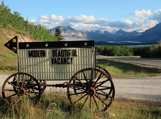 Saint Mary, MT: Entrance to Glacier Trailhead Cabins