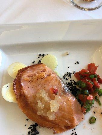 Austell's : Salmon starter (Sorry I had a few of the quail eggs already!)